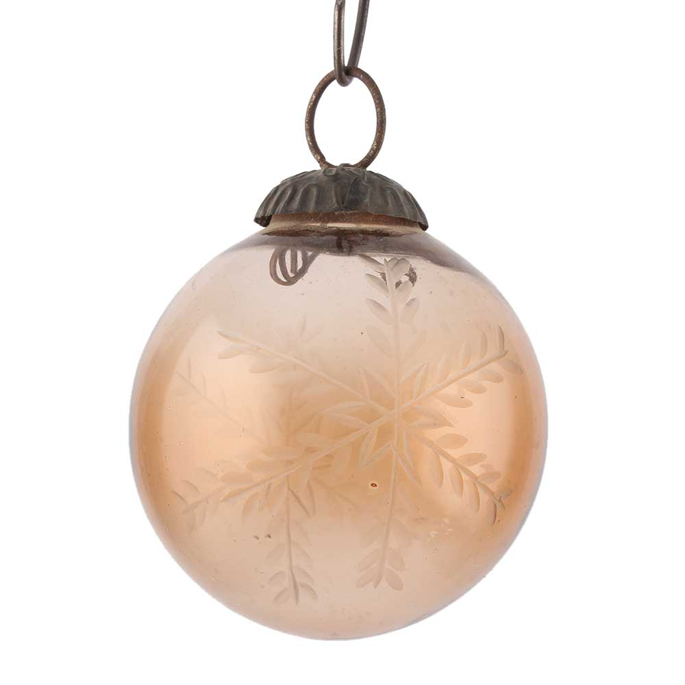Brown Round Leaf Cut Christmas Hanging Online