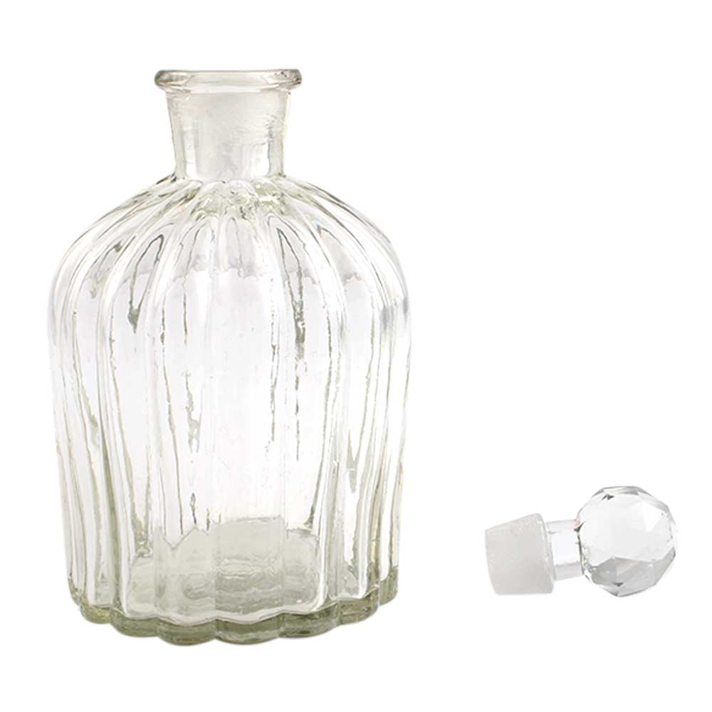 Big Oval Shape Decorative Glass Bottle