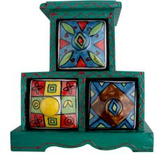 Spice Box-742 Masala Rack Container Gift Item