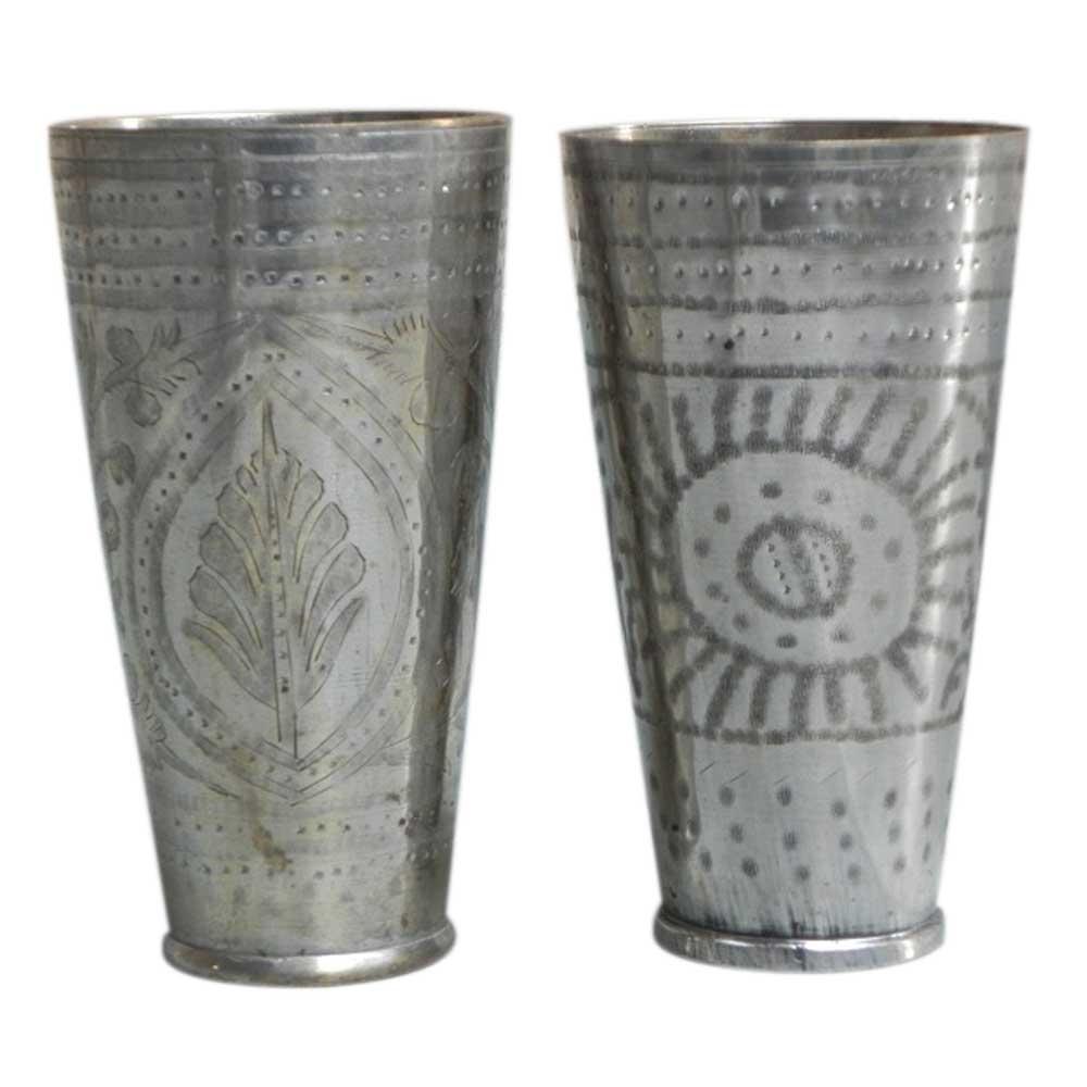 vintage brass cups-25