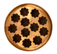 Bronze Flower Appe 12 Cavity Circular Mould