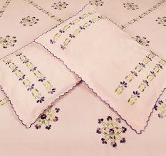 Light Pink Cotton Double Bedsheet