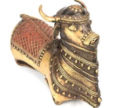 Nandi Bull (Ox of Shiva) Brass Statue Carrier