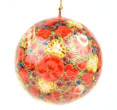 Orange Floral Christmas Ornament Ball/Christmas Tree Decoration