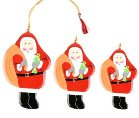 Christmas Tree Hanging Decoration Green Santa Clauses In Three Sizes Online