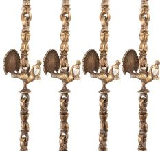 Brass Swing Chain Set With Handmade Statue(Set Of 4 Piece)