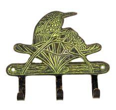 Bronze Bird Wall Hooks with Patina Finish