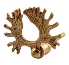 Golden Reindeer Horn Brass Drawer Knobs