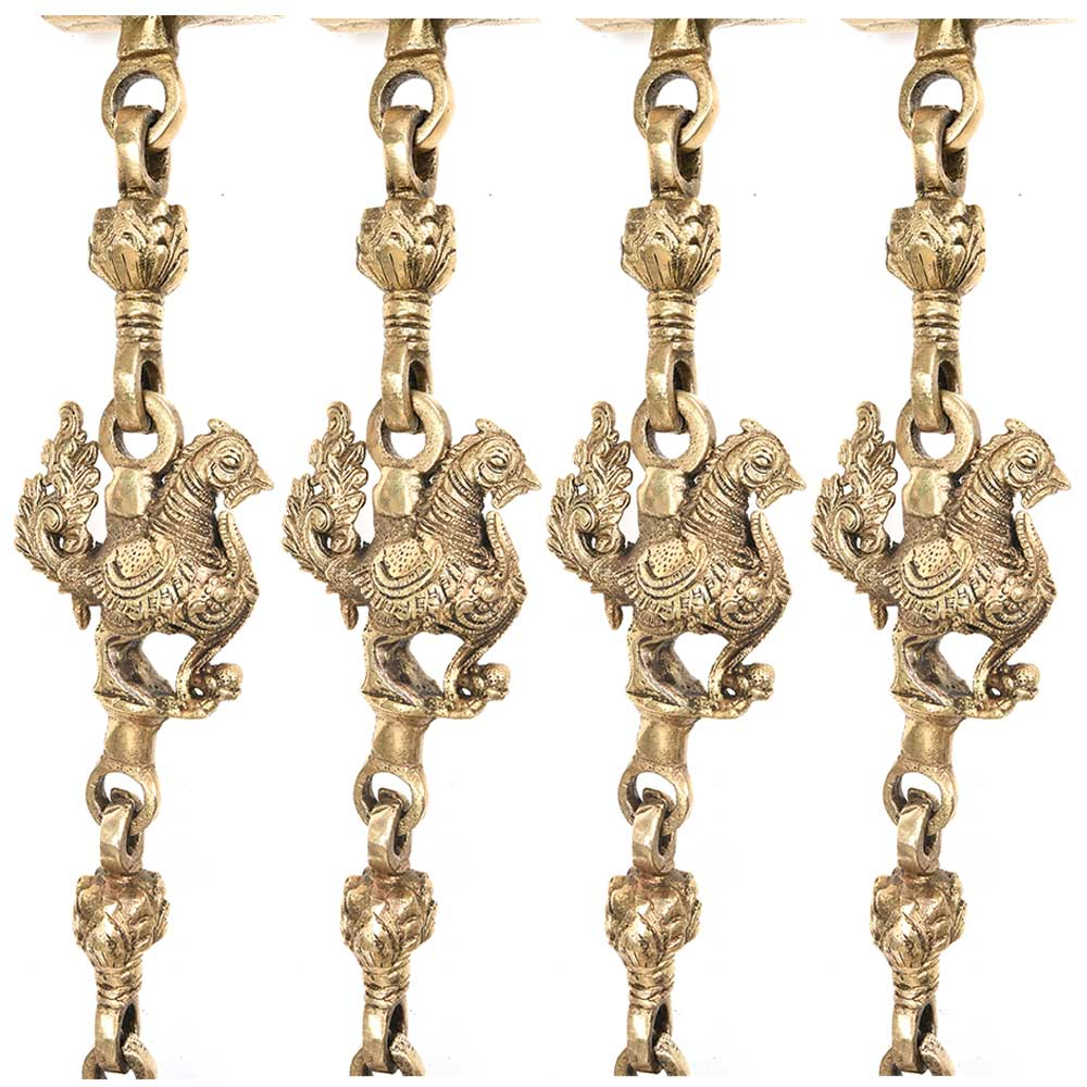Brass Animal Statue Jhoola Chain(Set Of 4 Pieces)
