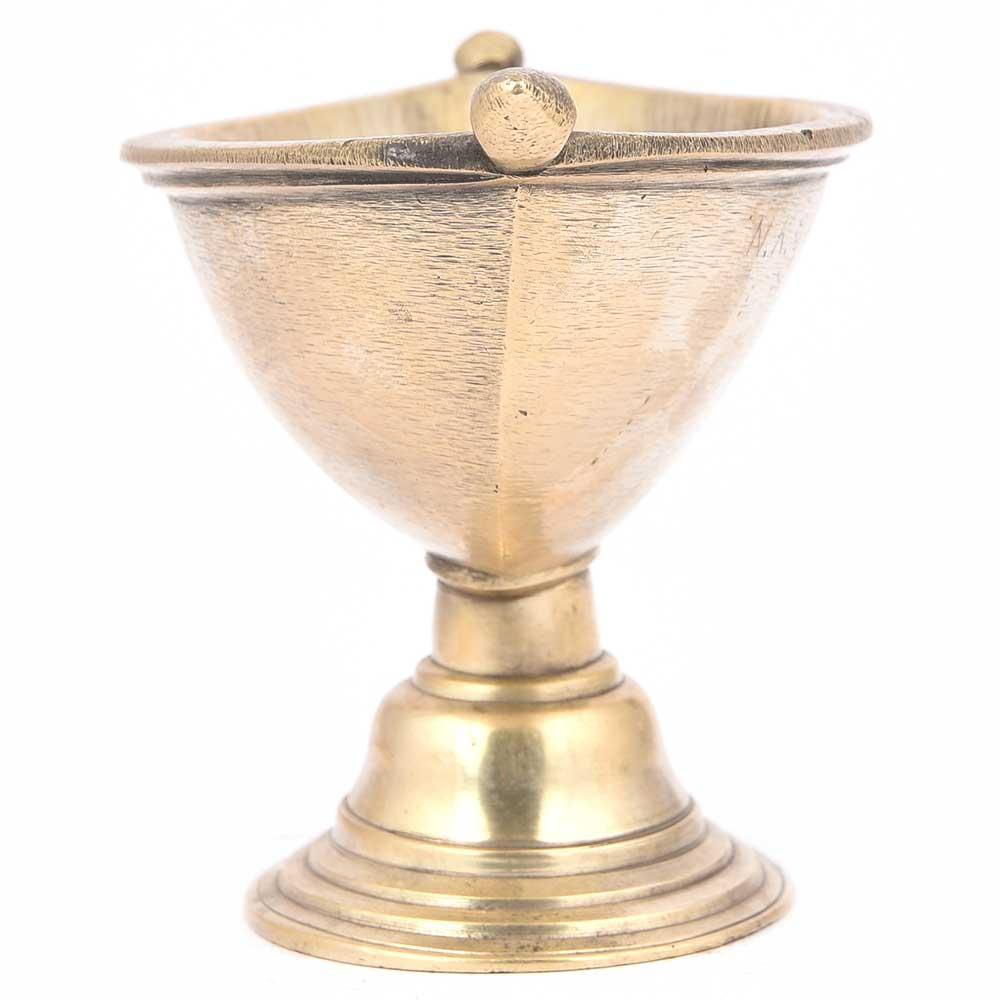 Diya Shape Brass Morter and Pestle