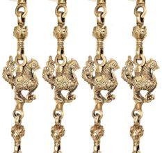 Brass Animal Statue Jhoola Chain(Set Of 4 Pieces)