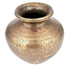 Brass Etched Hand CraftedWater Pot