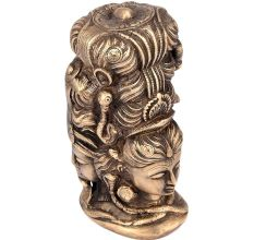 Shiva Parvati Brass Sculpture