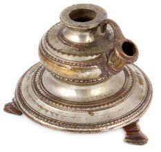 Old Brass Hand Carved Hand Engraved Hookah Base