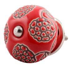 Red Marigold Etched Ceramic Dresser Knob Online