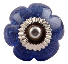 Cobalt Blue Melon Glass Dresser  Knob Online