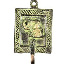Framed Elephant Solid Brass Single Wall Hooks