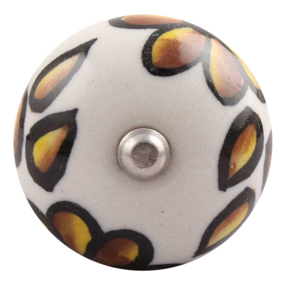 Brown Hibiscus Flower Ceramic Wine Stopper