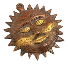 Hand Crafted Metal Sun Wall Hanging