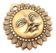 Indian Hindu  Brass Sun God Wall Hanging