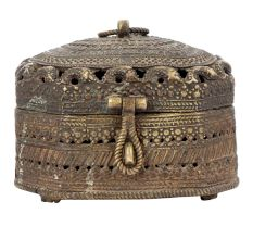 Brass Jewellery Box Dhokra Art