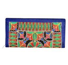Blue Hand Clutch Indian Tribal Banjara Clutch Bag