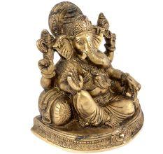 Brass Seated Ganesha Statue