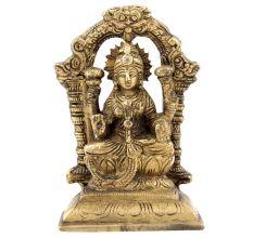 Brass Sitting Prabhavali Lakshmi Statue