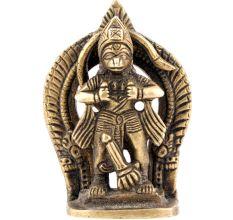 Hanuman Tears Open His Heart Brass Statue