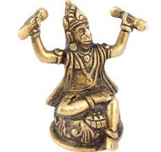 Shri Hanuman Ji Singing The Glory Of Shri Rama KathaBrass Statue