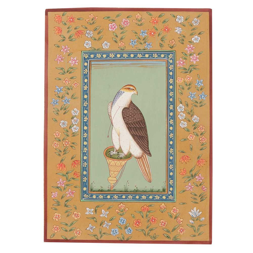 Indian Falcon Miniature Art Painting