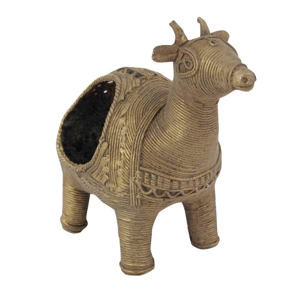 Brass Napkin Tissue Holder Goat Statue