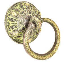 Decorative Green Brass Door knocker