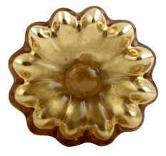 Golden Mercury Sunflower Glass Drawer Knob Online