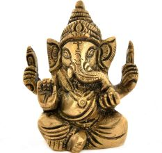 Brass Four Hands Ganesh Idol