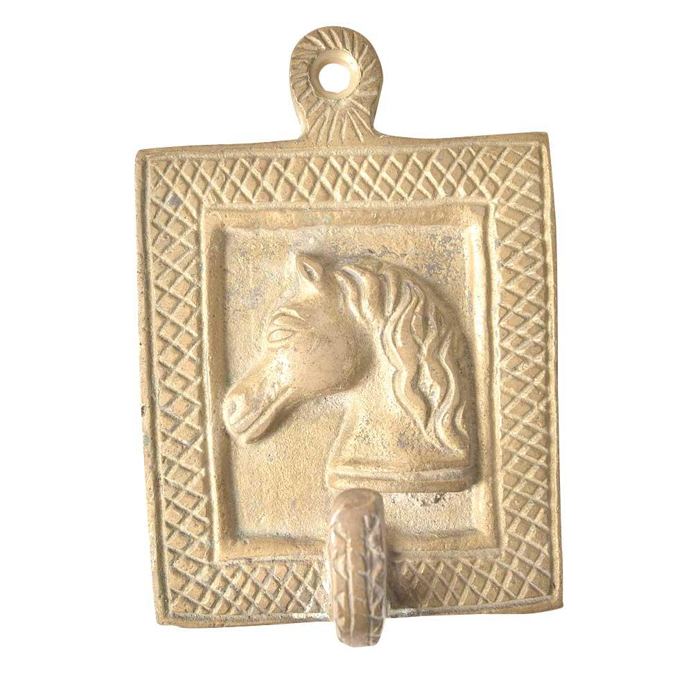 Brass Rugged Horse Face Wall Hooks