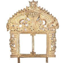 Bronze Vishnu Consorts Prabhavali Temple Decor