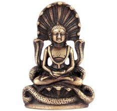 Buddha In Meditation With Protective Naga Snake 12 cm Statue