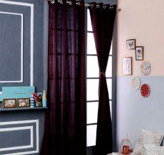 Turkish Bath Jacquard Door Curtain Set Of 2: Paisley