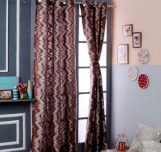Turkish Bath Jacquard Door Curtain Set Of 2: Stripes