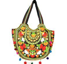 Black Ethnic Ladie Purse Handmade Bag
