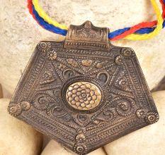 Bronze Pendant Pentagon Shape