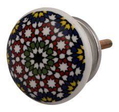 Multicolor Star Ceramic Flat Dresser Knob Online