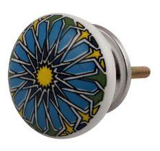 Turquoise Ceramic Flat Cabinet Knob Online