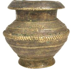 Indian Old Hand Crafted Unique Brass Water Pot