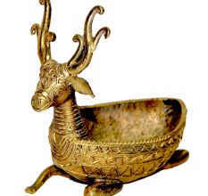 Dhokra Deer Side Table Tray