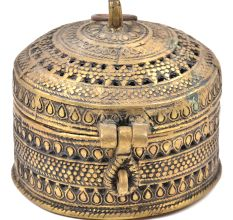 Bronze Circular Jali Style Jewellery Box