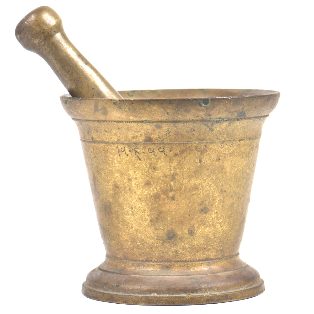 Brass Apothecary Pharmaceutical Mortar and Pestle Set