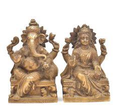 Bronze Laxmi Ganesha Figurine