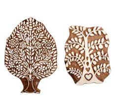 Set of 2 Piece New Mix Wooden Printing Block